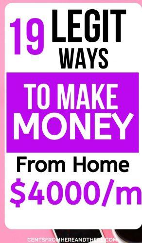 legit ways to make money from home